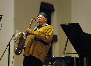 Charles Lloyd performing in Santa Fe2005© 2005 Paul Slaughter - Image 24262_0219