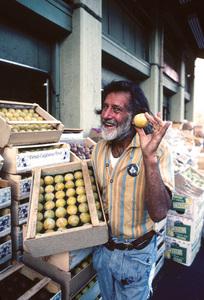 Robert Bootzin (aka Gypsy Boots) at a Los Angeles food market1979© 1979 Paul Slaughter - Image 24262_0319