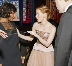 """2013 Writers Guild Awards"" Jessica Chastain, Mindy Kaling02-17-2013 / JW Marriott Hotel / Los Angeles, CA © 2013 Michael Jones - Image 24263_0019"