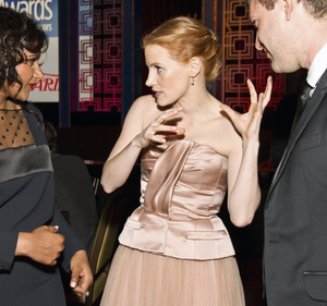 """2013 Writers Guild Awards"" Jessica Chastain, Mindy Kaling02-17-2013 / JW Marriott Hotel / Los Angeles, CA © 2013 Michael Jones - Image 24263_0020"