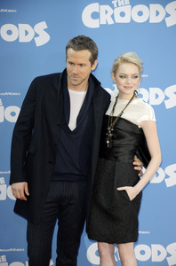 """""""The Croods"""" Premiere Ryan Reynolds, Emma Stone 3-10-2013 / AMC Loews Lincoln Square Theater / New York NY / Dreamworks / Photo by Eric Reichbaum - Image 24266_180"""