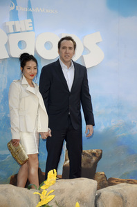 """""""The Croods"""" Premiere Alice Kim, Nicolas Cage 3-10-2013 / AMC Loews Lincoln Square Theater / New York NY / Dreamworks / Photo by Eric Reichbaum - Image 24266_27"""