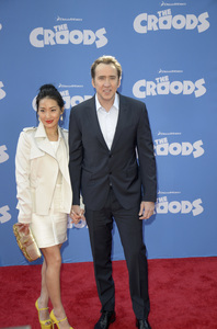 """""""The Croods"""" Premiere Alice Kim, Nicolas Cage 3-10-2013 / AMC Loews Lincoln Square Theater / New York NY / Dreamworks / Photo by Eric Reichbaum - Image 24266_41"""