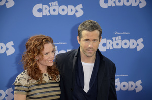 """""""The Croods"""" Premiere Robyn Lively, Ryan Reynolds 3-10-2013 / AMC Loews Lincoln Square Theater / New York NY / Dreamworks / Photo by Eric Reichbaum - Image 24266_82"""