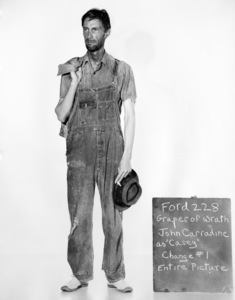 "John Carradine posing for a wardrobe test for ""The Grapes of Wrath"" 1940 20th Century Fox ** I.V. - Image 24287_0177"