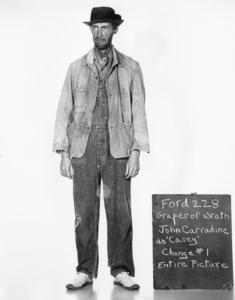"John Carradine posing for a wardrobe test for ""The Grapes of Wrath"" 1940 20th Century Fox ** I.V. - Image 24287_0178"