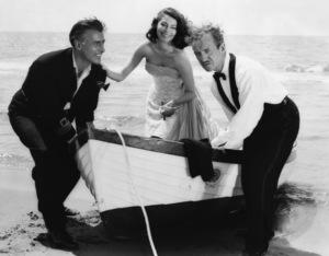 "David Niven, Stewart Granger and Ava Gardner in ""The Little Hut"" 1957 MGM ** I.V. - Image 24287_0249"