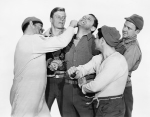 """Robert Strauss and William Holden in """"Stalag 17"""" 1953 Paramount** I.V. - Image 24287_0308"""