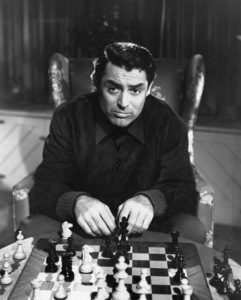 """Cary Grant playing chess in """"The Talk of the Town"""" 1942 Columbia** I.V. - Image 24287_0318"""