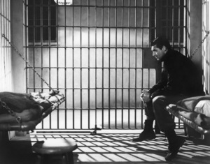 """Cary Grant sits in a prison cell in """"The Talk of the Town"""" 1942 Columbia** I.V. - Image 24287_0320"""