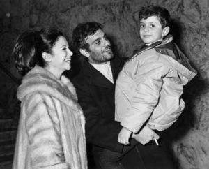 Faten Hamama with Omar Sharif and their son Tarek Sharifcirca 1964** B.D.M. - Image 24293_0035