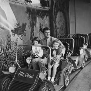 """Kelly Curtis, Tony Curtis and Claire Wilcox on location at Disneyland filming """"40 Pounds of Trouble""""1962 Universal** B.D.M. - Image 24293_0063"""