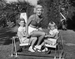 Betty Grable with her two daughters, Victoria Elizabeth James and Jessica Jamescirca 1950** B.D.M. - Image 24293_0078