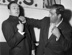 Marlon Brando and Rocky Marciano circa 1954** B.D.M. - Image 24293_0185
