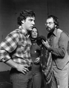 """Mandy Patinkin, Patricia Elliott and Laurence Luckinbill in """"The Shadow Box"""" (stage production)1977Photo by Ken Howard** B.D.M. - Image 24293_0241"""