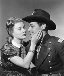 """Barbara Payton and Guy Madison in """"Drums in the Deep South""""1951 RKO** B.D.M. - Image 24293_0252"""