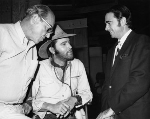 """Elvis Presley and Army Archerd on the set of """"Charro!""""1969 National General Pictures** B.D.M. - Image 24293_0260"""