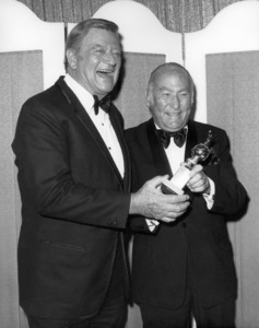 John Wayne and Hal B. Wallis at the 1975 Golden Globe Awards** B.D.M. - Image 24293_0273