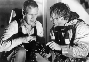 """Paul Newman and Steve McQueen in """"The Towering Inferno""""1974 20th Century-Fox** B.D.M. - Image 24293_0316"""