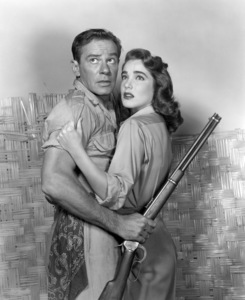 """Richard Carlson and Julie Adams in """"Creature from the Black Lagoon""""1954 Universal** B.D.M. - Image 24293_0337"""