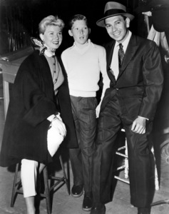 "Doris Day and Terry Melcher visit Jack Webb on the set of ""Dragnet""1954 Warner Bros.** B.D.M. - Image 24293_0340"