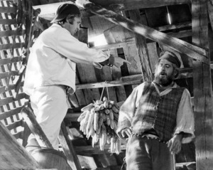 """Norman Jewison and Topol on the set of """"Fiddler on the Roof""""1971 United Artists** B.D.M. - Image 24293_0354"""