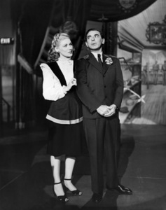 "Dolores Moran and Eddie Cantor in ""Hollywood Canteen""1944 Warner Bros.Photo by Mack Elliott** B.D.M. - Image 24293_0365"