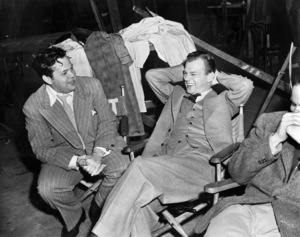 """Orson Welles and Joseph Cotten on the set of """"Journey Into Fear""""1943 RKO** B.D.M. - Image 24293_0374"""