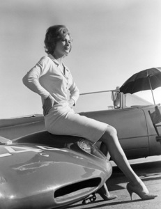 """Angie Dickinson on the set of """"The Killers""""1964 Universal** B.D.M. - Image 24293_0375"""