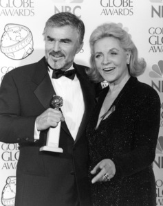 """Burt Reynolds and Lauren Bacall at """"The 55th Annual Golden Globe Awards""""1998** B.D.M. - Image 24293_0411"""