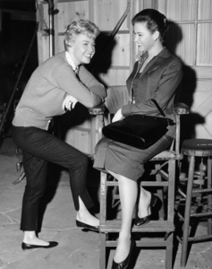 """Doris Day and Gia Scala on the set of """"The Tunnel of Love""""1958 MGM** B.D.M. - Image 24293_0448"""