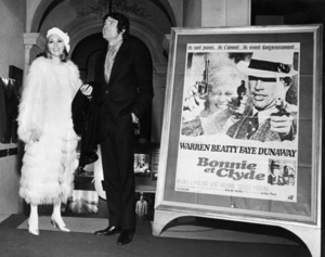 """Faye Dunaway and Warren Beatty at the Paris premiere of """"Bonnie and Clyde""""January 1968** B.D.M. - Image 24293_0488"""