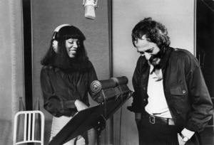 """Donna Summer and John Barry in the studio recording the theme song from """"The Deep""""1977 Columbia** B.D.M. - Image 24293_0503"""