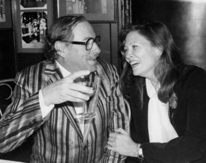 """Tennessee Williams and Faye Dunaway at the opening night party for """"Eccentricities of a Nightingale""""November 23, 1976** B.D.M. - Image 24293_0504"""