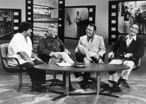 """Buddy Hackett, Stanley Kramer, Jonathan Winters and Sid Caesar on """"Stanley Kramer's Reunion with the Great Comedy Artists of Our Time""""1974 ** B.D.M. - Image 24293_0533"""