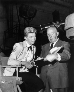 "Doris Day and Alfred Hitchcock on the set of ""The Man Who Knew Too Much""1956 Paramount** B.D.M. - Image 24293_0541"