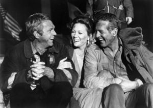 """Steve McQueen, Faye Dunaway and Paul Newman in """"The Towering Inferno""""1974 20th Century-Fox / Warner Bros.** B.D.M. - Image 24293_0567"""