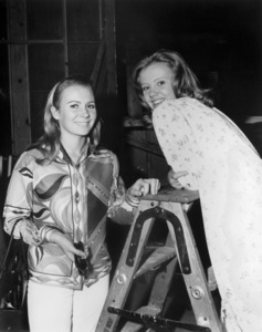 """Juliet Mills and Hayley Mills on the set of """"The Trouble with Angels""""1966 Columbia** B.D.M. - Image 24293_0568"""