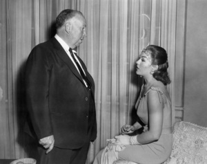"Alfred Hitchcock and Kim Novak on the set of ""Vertigo""1958 Paramount** B.D.M. - Image 24293_0574"