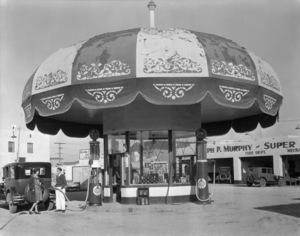 Los Angeles Landmarks (Joseph Murphy Service Station)circa 1920s** I.V. / M.T. - Image 24293_0585