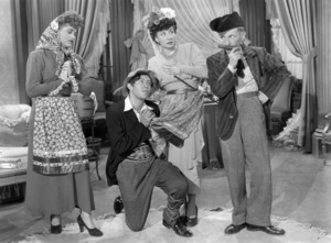 """The Revuers (Judy Holliday, Adolph Green, Betty Comden) in a deleted scene from """"Greenwich Village""""1944 20th Century-Fox** B.D.M. - Image 24293_0591"""