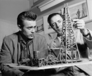 "James Dean and Boris Leven during production of ""Giant""1955 Warner Bros.** B.D.M. - Image 24293_0613"