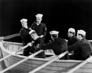"Lou Costello, Shemp Howard and Bud Abbott in ""In The Navy""1941 Universal** B.D.M. - Image 24293_0620"