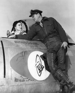 """Janet Leigh and John Wayne in """"Jet Pilot""""1957 RKO** B.D.M. - Image 24293_0623"""