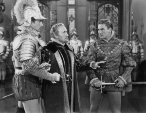 "Vincent Price, Donald Crisp and Errol Flynn in ""The Private Lives of Elizabeth and Essex""1939 Warner Bros.** B.D.M. - Image 24293_0637"