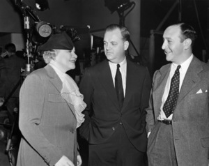 """Sophie Tucker, Roy Del Ruth and Arthur Freed on the set of """"Broadway Melody of 1938""""1937 MGM** B.D.M. - Image 24293_0681"""