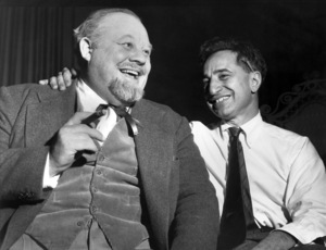 """Burl Ives and Elia Kazan during Philadelphia rehearsals of """"Cat on a Hot Tin Roof""""circa 1955** B.D.M. - Image 24293_0686"""