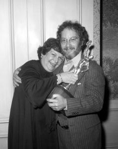 "Richard Dreyfuss congratulates Verna Fields who won the 1976 American Cinema Editors award for her work on ""Jaws"" 1975** B.D.M. - Image 24293_0704"