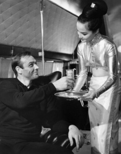 """Sean Connery and Mai Ling in """"Goldfinger""""1964 United Artists** B.D.M. - Image 24293_0711"""