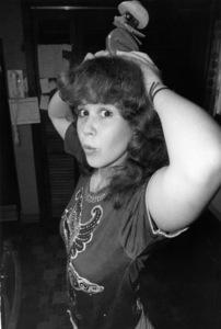 Linda Blair at her mother